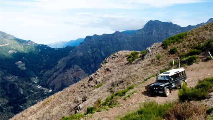 Jeep tour across the mountains in Madeira
